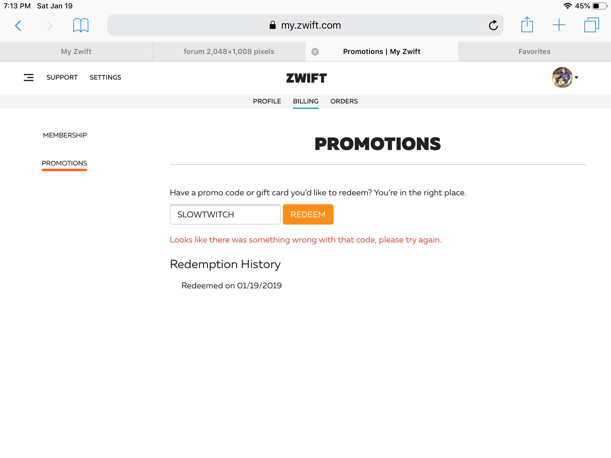 Slowtwitch Promo Code On Zwift Not Working Triathlon Forum Slowtwitch Forums